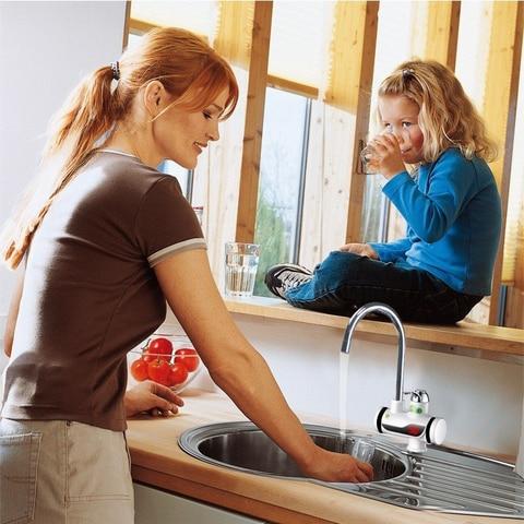 3000W Electric Instant Water Heater Tap Shower Hot Faucet Kitchen Water Heater Multan