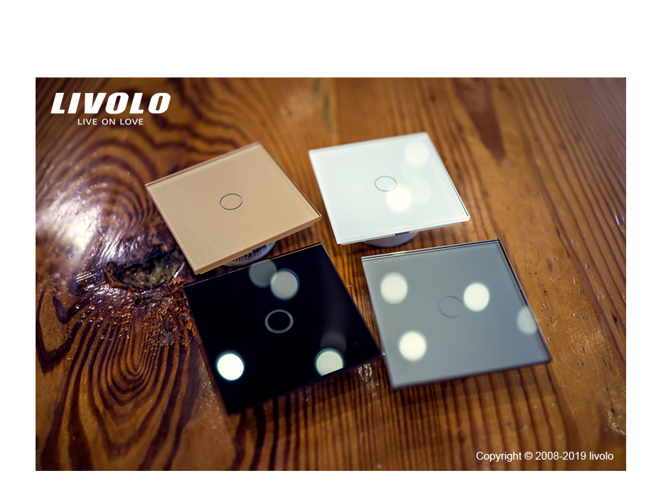 Livolo Dimmer Remote Electrical Light Switch With Red Blue Led Indicator Light