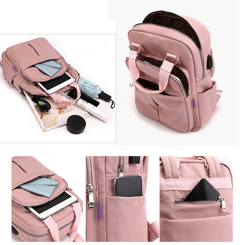 H3938ebc2438d42e1b008b08b2eccff1az - New Waterproof Nylon Backpack for Women Multi Pocket Travel Backpacks Female School Bag for Teenage Girls Dropshipping