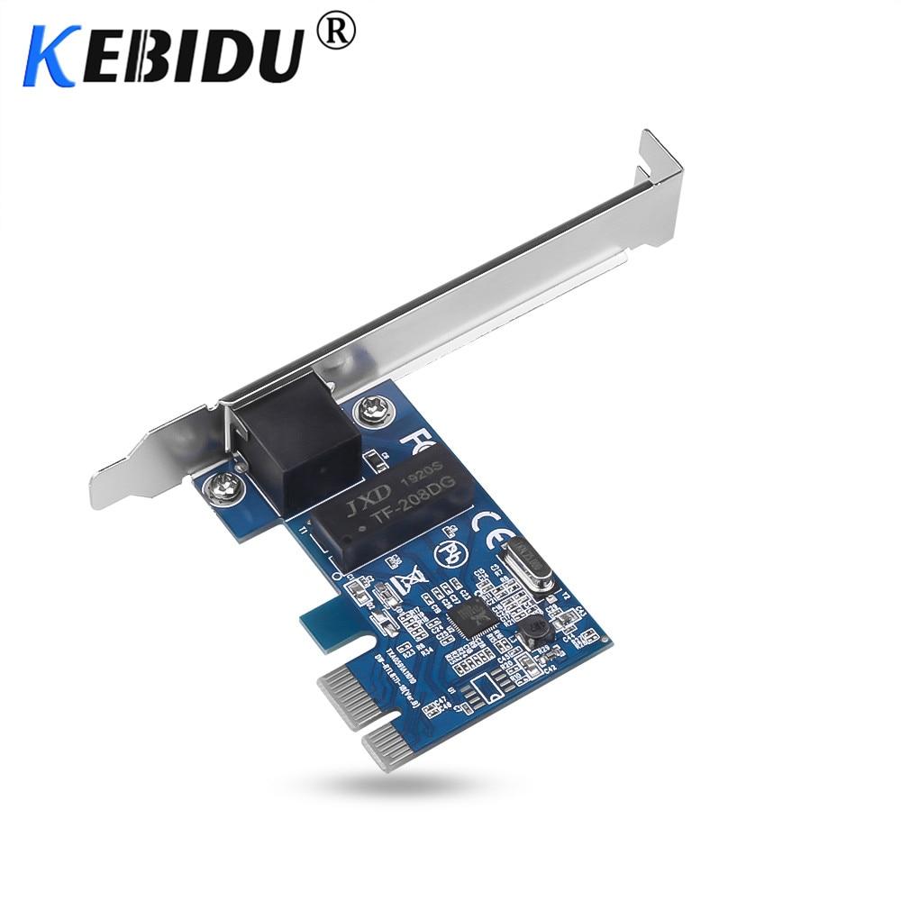 Adaptador de rede kebidu pci express pci-e, conversor de placa de rede 1000 mbps gigabit ethernet 10/100/1000 m RJ-45 lan controlador de rede