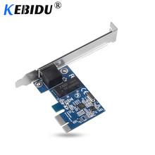 Kebidu PCI Express PCI-E Network Card 1000Mbps Gigabit Ethernet 10 100 1000M RJ-45 LAN Adapter Converter Network Controller cheap Wireless 10 100 1000Mbps Internal Laptop 600 Mbps 802 11n 1000M Ethernet TOM000063