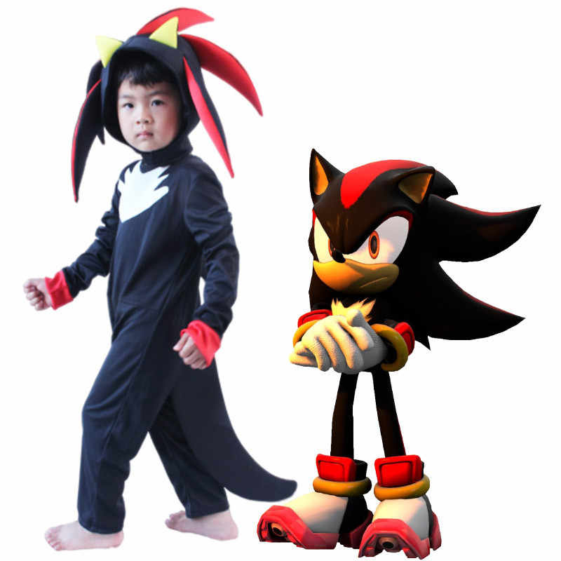 Game Figure Toys Sonic The Hedgehog Costume For Boys Jumpsuit Mask Halloween Costumes Cosplay Anime Disfraces Kids Dress Up Aliexpress