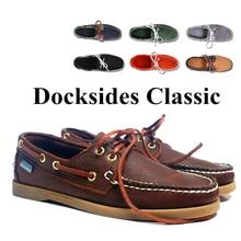 Spinnaker chaussures de bateau classiques de haute qualité pour hommes et femmes, chaussures en cuir suédé véritable, Docksides, 2019A121