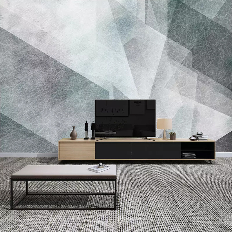 Nordic Wallpaper Modern Minimalist Abstract Creative Black And White Geometry Lines Mural Living Room Television Background Wall