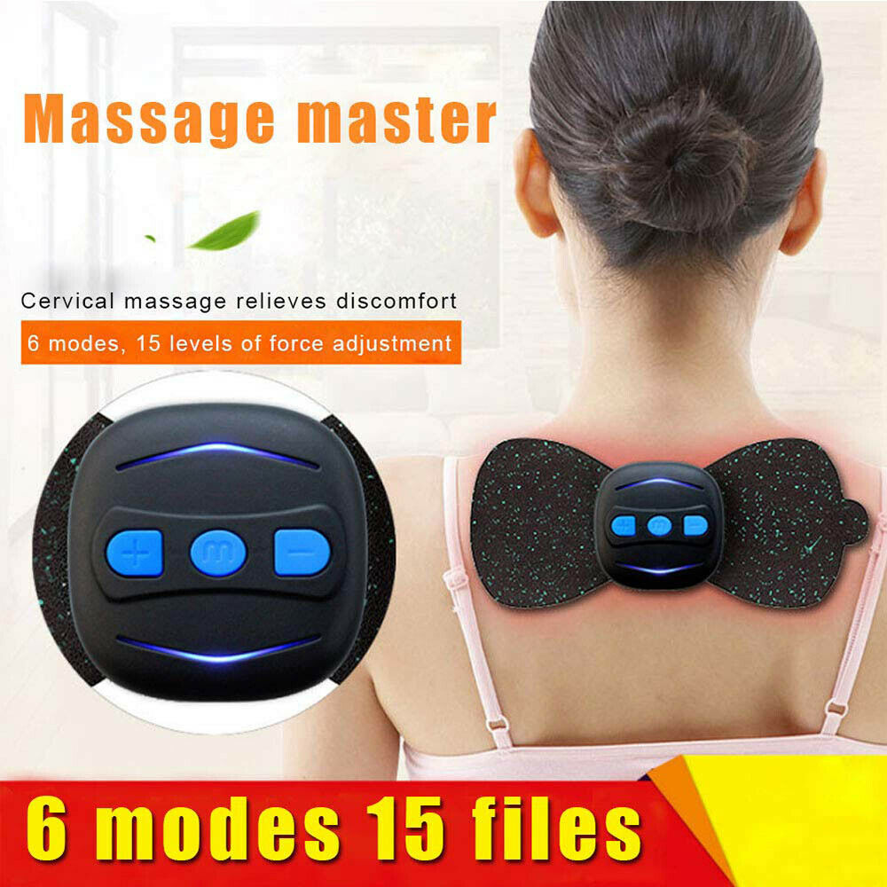 Cervical Spine Massage Sticker Rechargeable Smart Massager Physiotherapy Shoulder Cervical Massager Abdominal Fitness Equipment