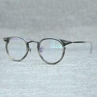 Cubojue Titanium Eyeglasses Frame Men Brand Eye Glasses women Man Vintage Non prescription Spectacles for Optic Lens