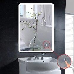 حار مكافحة الضباب مرآة الجمال ماكياج أدى مرآة حمام الغرور التجميل ميرور الحائط المضاء LED مرآة ل الحمام HWC