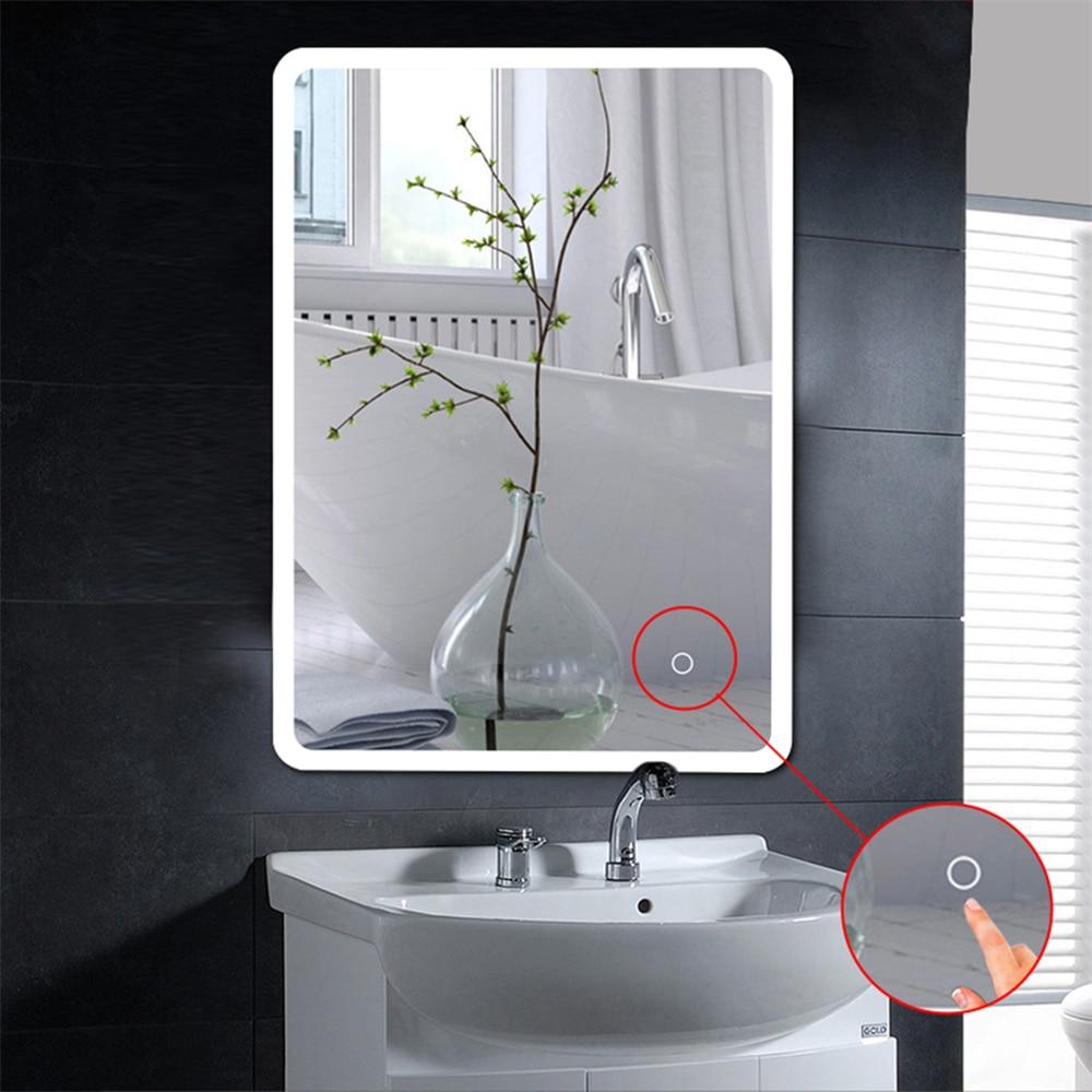 Hot Anti-fog Mirror Beauty Makeup LED Mirror Bath Room Vanity Cosmetic Miroir Wall Mounted Lighted LED Mirror For Bathroom HWC