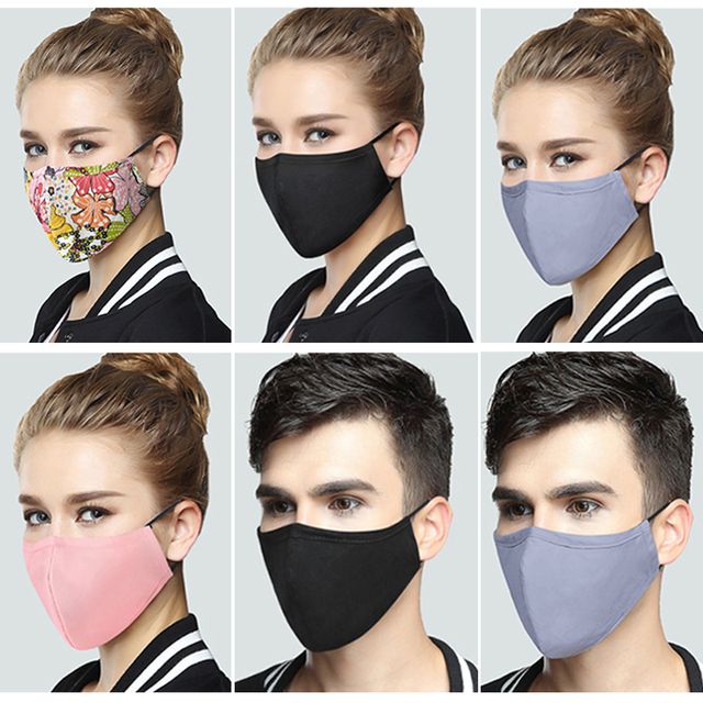 Dustproof  Masks Cotton Fabric Face Mask With Carbon Filter Mouth-muffle Mask Washable Reusable Korean Pop