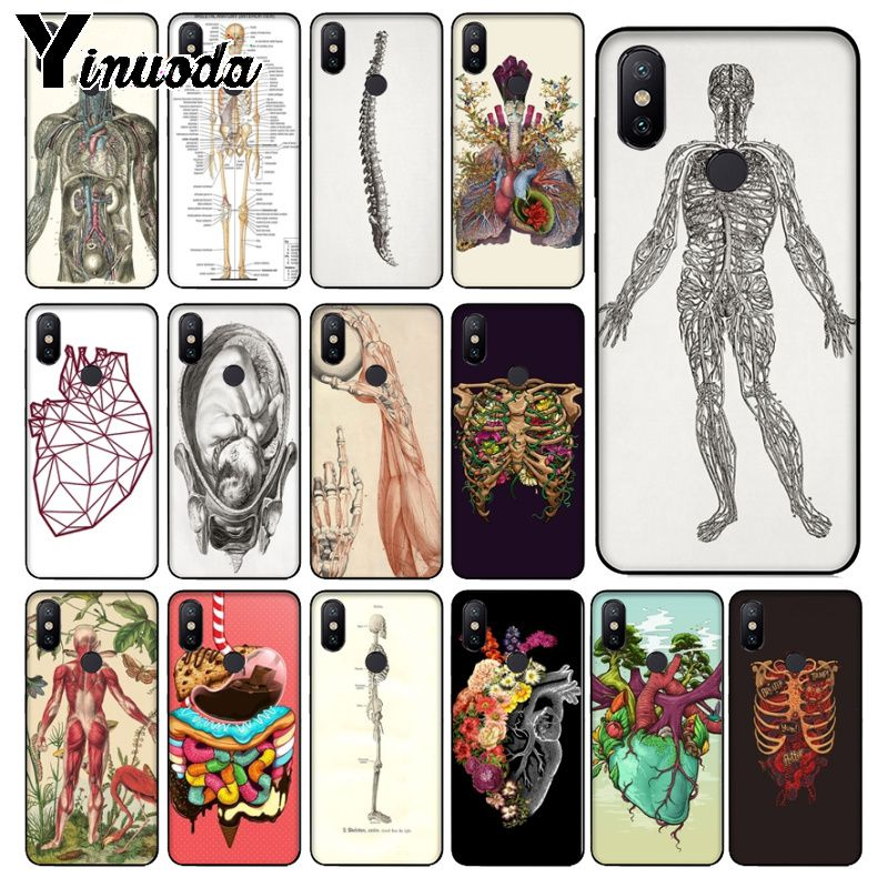 Ynuoda HUMAN ANATOMY Newest Super Cute Phone Cases for xiaomi mi 8se 6 note2 note3 redmi 5 plus note5 cover