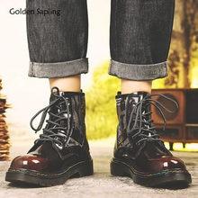 Ouro de mudas ocidentais botas masculinas couro genuíno sapatos casuais plataforma confortável lazer bota militar tático calçados masculinos