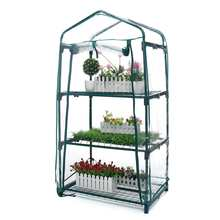 3 Layers Mini Garden Greenhouse Home Outdoor Flowers Gardening Winter Plant Shelves Vegetables Nursery Room Shelter 69x49x126cm