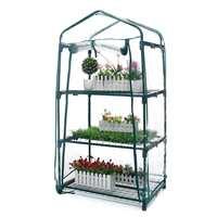 3 capas Mini invernadero jardín hogar exterior flores jardinería invierno plantas estantes verduras cuarto refugio 69x49x126cm   -