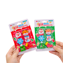 10sets/lot Creative Cartoon Snowflake Christmas Eraser Six Pcs Each Set For Girls Gifts And School