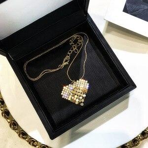 Новое золотистое эффектное ожерелье в форме сердца с кристаллами эффектное ожерелье для шоппинга вечеринки для танцев подарок для модных ж...