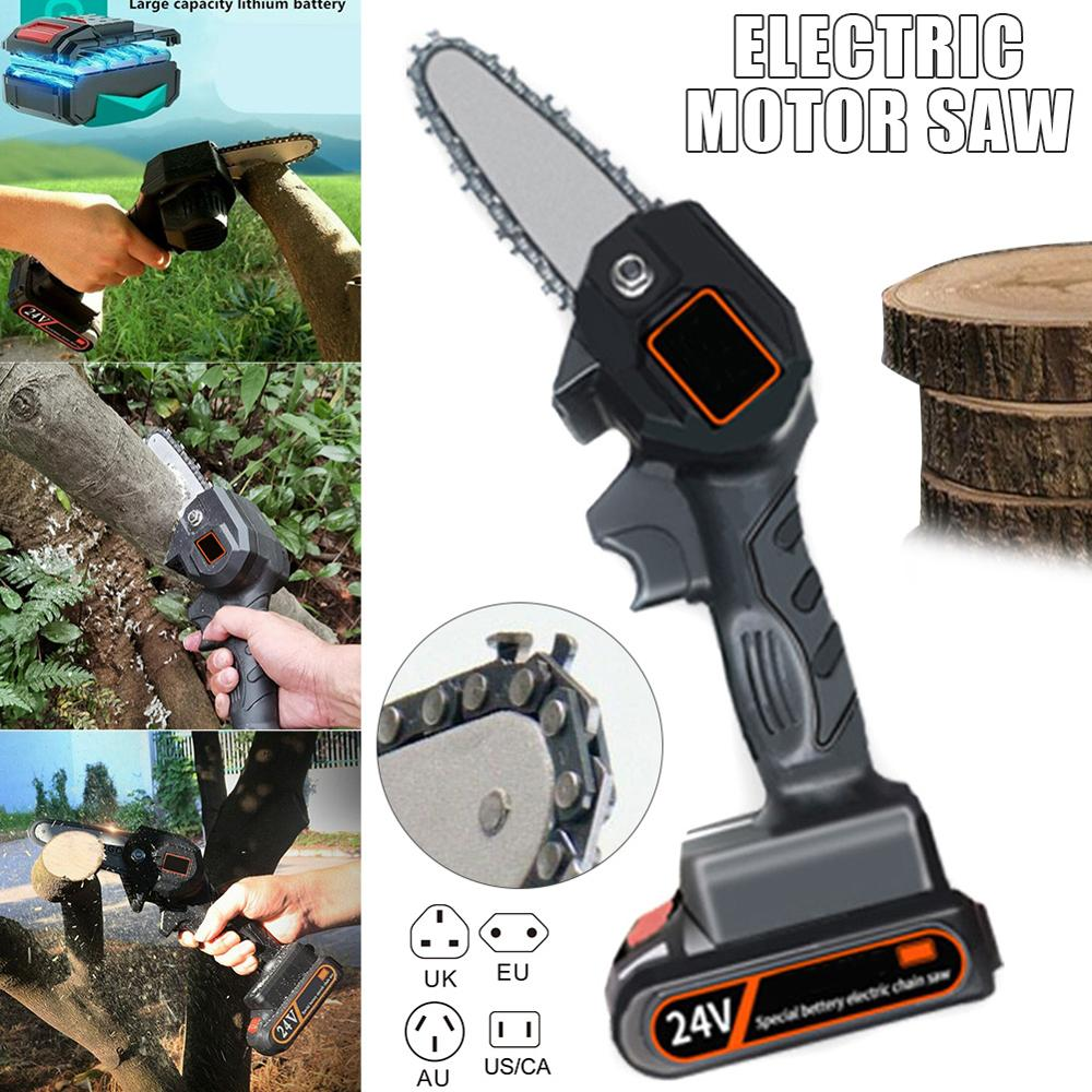 Mini Electric Portable Garden Electric Rechargeable Chain Electric Saw Woodworking Onehanded Saw Saw Garden Logging Tool Pruning