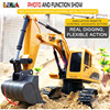 LBLA C3 1:24 RC Excavator Toys 2.4Ghz 6 Channel Remote Control Engineering Car Metal and Plastic Vehicle RTR for Kids Gift