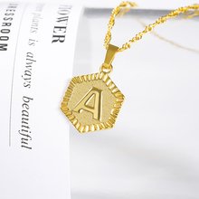 A-Z Letter Necklace Gold Chain Stainless Steel Initial Pendant Necklaces For Women Alphabet Choker Necklace Boho Jewelry stainless steel initial necklace rose gold alphabet disc pendant necklace initial jewelry for women girls