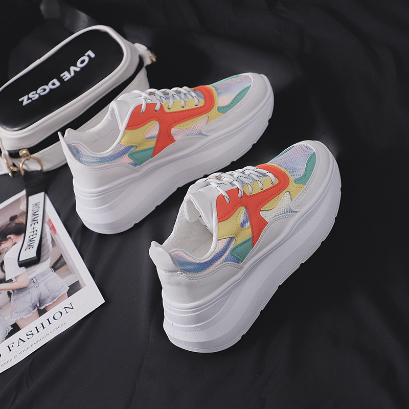 Image 3 - MBR FORCE zapatillas de deporte gruesas a la moda zapatos de mujer Zapatillas planas Zapatos de cordones informales zapatos gruesos zapatillas de mujerZapatos planos de mujer   -