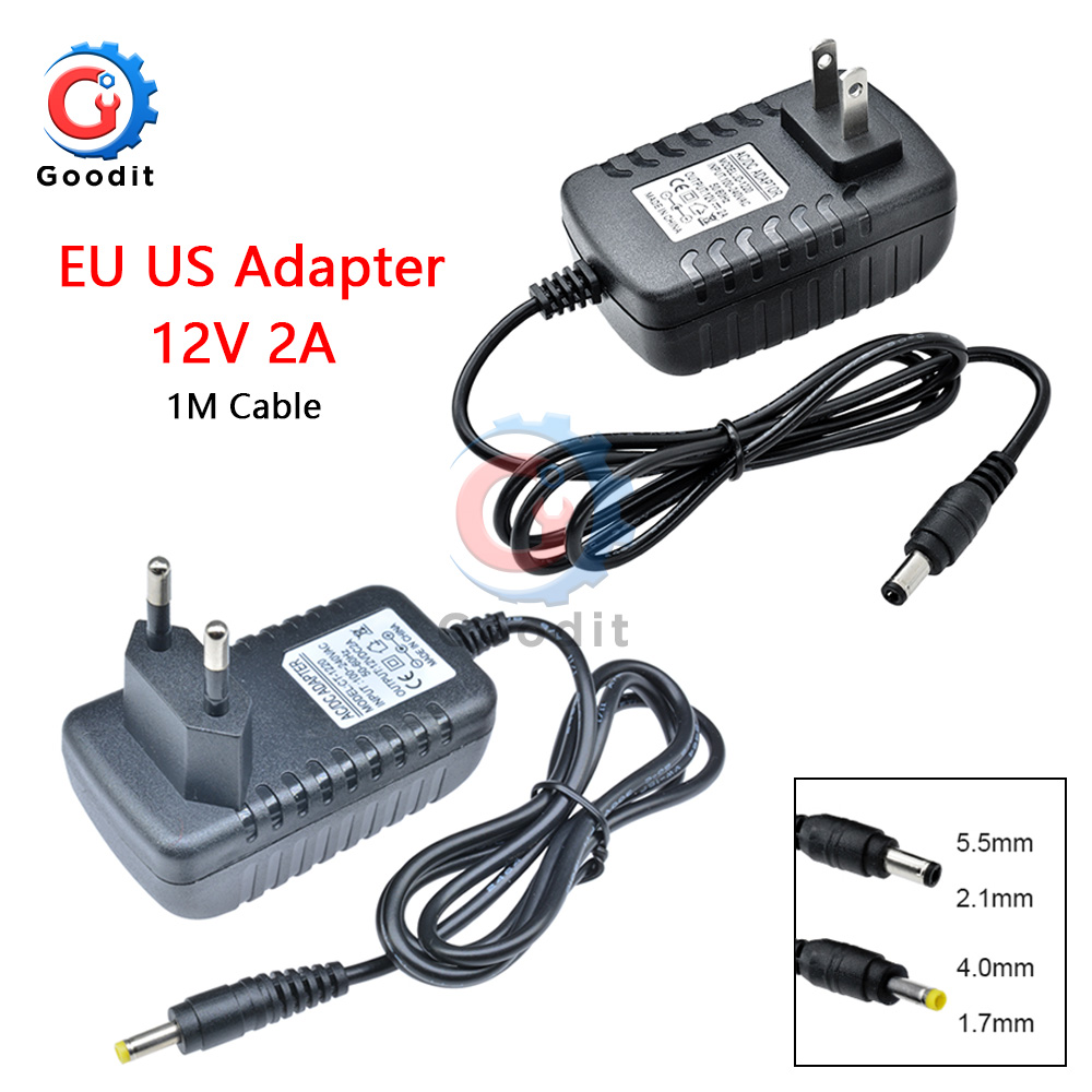 EU US Plug <font><b>Adapter</b></font> AC 100-240V to DC <font><b>12V</b></font> 2A lighting transformers Power Supply <font><b>Adapter</b></font> Converter Charger For LED Strip light image