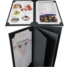 Папка для меню ресторана на заказ, маленькая MOQ папка меню для отеля