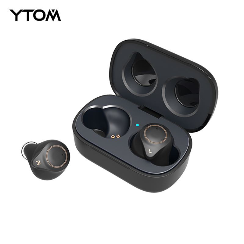 T1 <font><b>Bluetooth</b></font> <font><b>5.0</b></font> Earphone support aptx AAC Wireless Headphones 6 hours music time with HD deep bass mini earbuds for <font><b>smartphone</b></font> image
