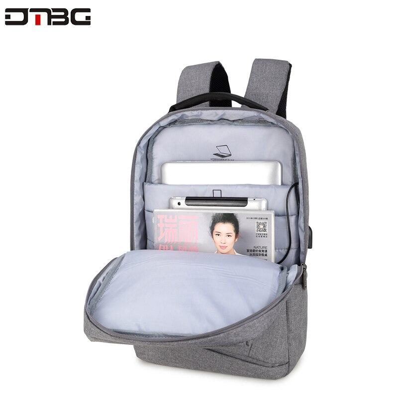 "Image 3 - DTBG Gray Backpack 15.6"" Laptop Back Pack Men Women Fashion Slim Travel Bags Large Capacity Waterproof College School Mochilar-in Backpacks from Luggage & Bags"