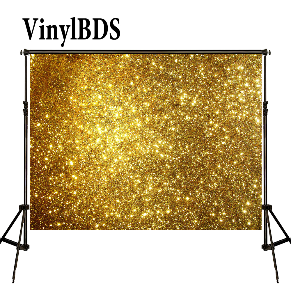 VinylBDS 8x8ft Bling Bling Background Golden Birthday and Wedding Party Backdrop Gorgeous Wedding Backdrop for Photocall|background for children|studio background|background for studio - title=