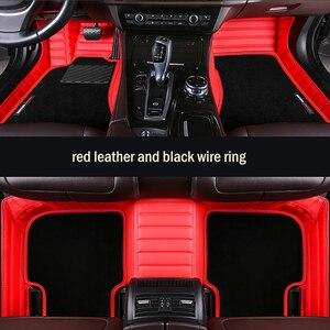 HLFNTF Custom car floor mats High elastic wire mat For Jeep Grand Cherokee Wrangler Compass Patriot Commander Car Feet(China)