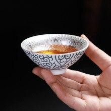 Высококачественная Посеребренная керамическая чайная чашка посуда китайский чайный набор кунг-фу чайная чашка чашки фарфор для Пуэр Улун чайная керамическая чашка