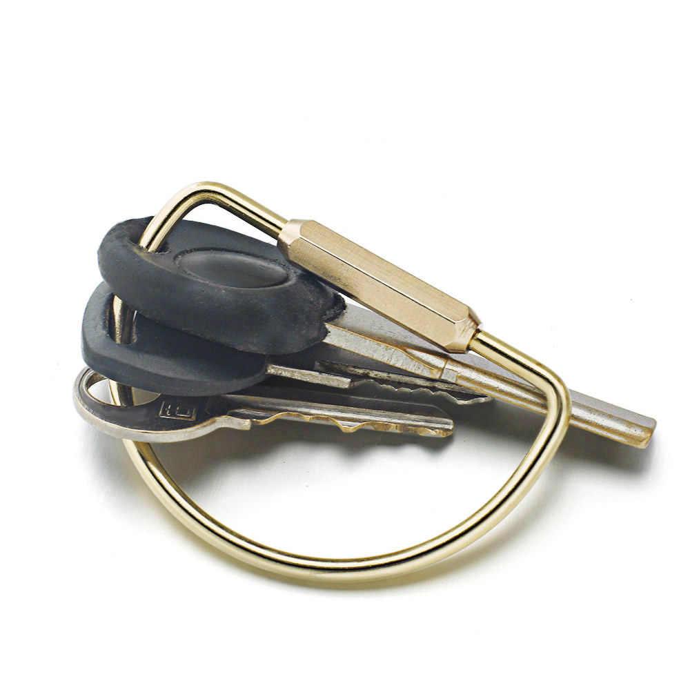Dalaful özel yazı anahtarlıklar Unisex saf el yapımı bakır anahtarlıklar basit pirinç araba anahtarlık halka tutucu erkekler kadınlar K353