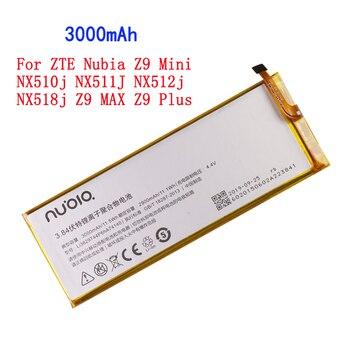 3000mAh Li3829T44P6hA74140 For ZTE Nubia Z9 Mini NX510j NX511J NX512j NX518j Z9 MAX Z9 Plus Battery