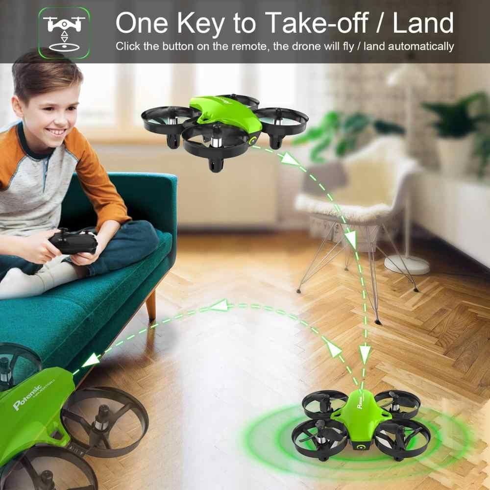 Potensic A20 ミニrcドローンおもちゃヘッドレスドローンミニrc quadrocopter quadcopter dron 1 キー土地自動ホバリングヘリコプター