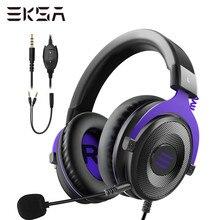 Eksa profissional jogos fone de ouvido e900 estéreo com fio jogo fones fone de ouvido gamer com microfone para ps4/smartphone/xbox/pc