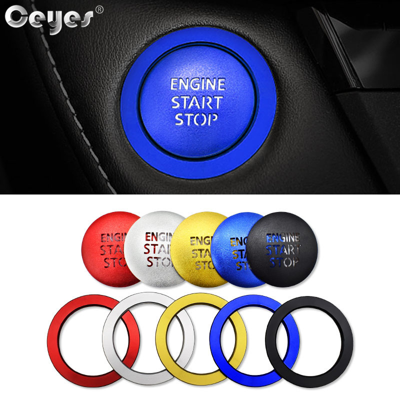 Ceyes Car Accessories Engine Stickers Styling Start Stop Ring Auto Button Trim Cover Case For Lexus For Toyota Corolla C-HR Rav4