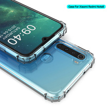 For Redmi Note 8 Pro Case Transparent Clear Soft Shockproof Back Cover