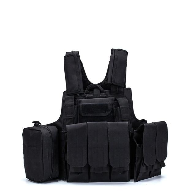 Airsoft Military  CIRAS Tactical Vest Molle Combat Assault Armor Plate Carrier Tactical Vest Kryptek Black Outdoor Hunting Vest 3