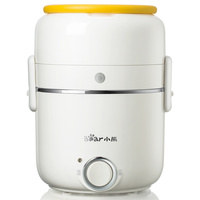 Bear Electric Lunch Box Three Layer Mini Portable Rice Cooker Heat Preservation Lunch Box.