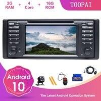TOOPAI Android 10 For BMW 5 E39 X5 E53 7 E38 M5 Auto Radio DVD Player SWC Steering Wheel Control Multimedia Player GPS Navi