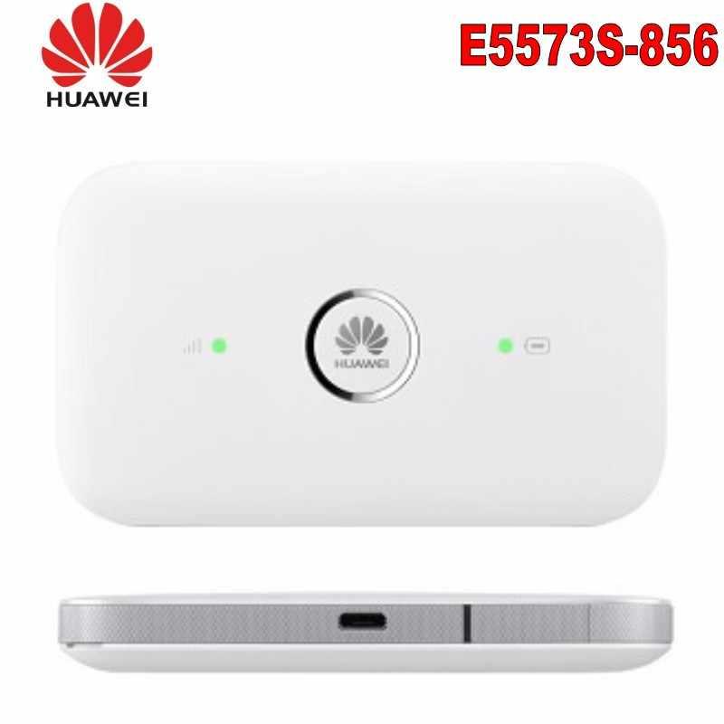 Desbloqueado Huawei E5573 E5573s-856 CAT4 150Mbps 4G LTE FDD 1800/2100MHz TDD 2500/2600MHz 3G Roteador sem fio Wi-fi Hotspot Móvel