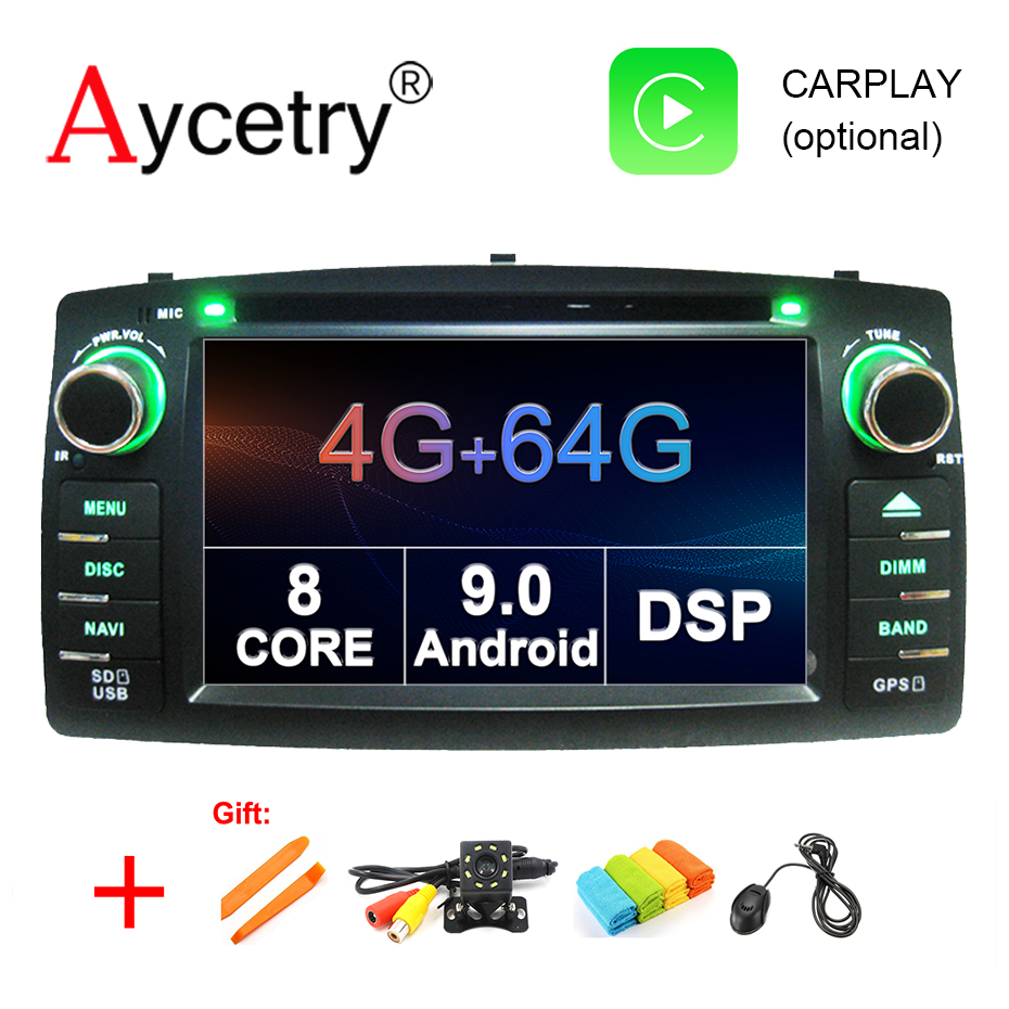 4G 64G DSP 2 din Android 9 0 car dvd multimedia player GPS autoradio for TOYOTA