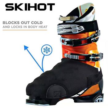 SKIHOT ouble-cubierta de zapato de esquí, impermeable, cálida, cubierta protectora para botas...