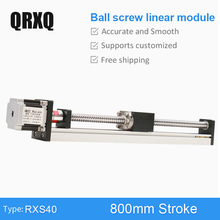 цена на RXS40 Ball Screw 800mm Linear Motion Rail Guide Motorized XY Slide Table Stepper Motor Actuator