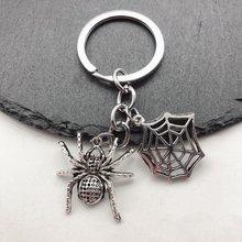 1pieces a halloween ornament cute spider web keychain diy handmade