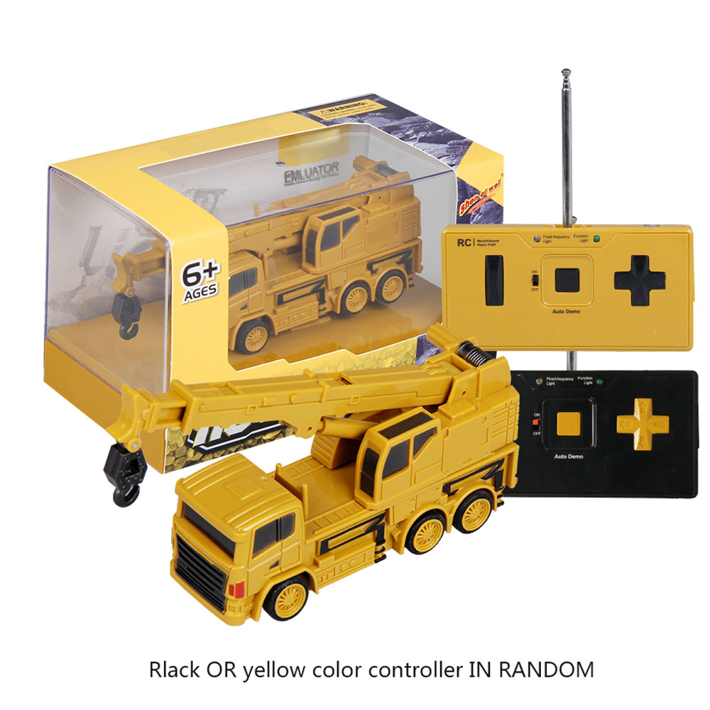 Remote control crane rc truck toy remote control dump truck for children bulldozer electric construction toy boys gift