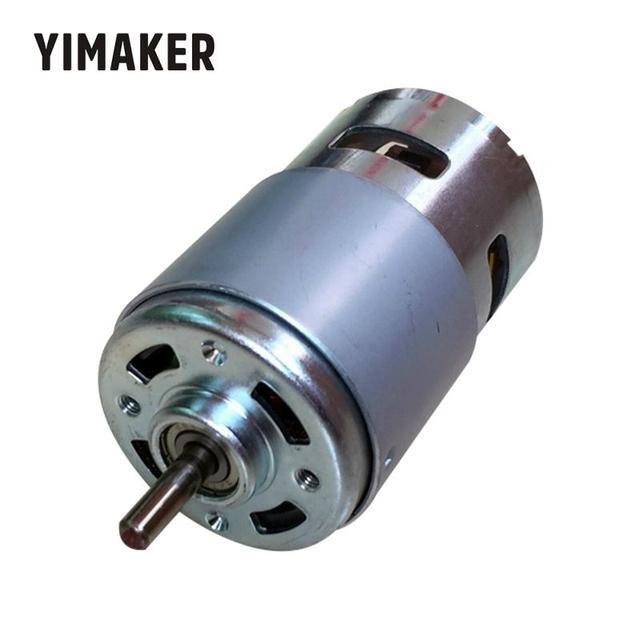 YIMAKER 795, двигатель постоянного тока с большим крутящим моментом, стандартный двигатель с большой мощностью, бесшумный двухшарикоподшипник, высокоскоростная круглая ось