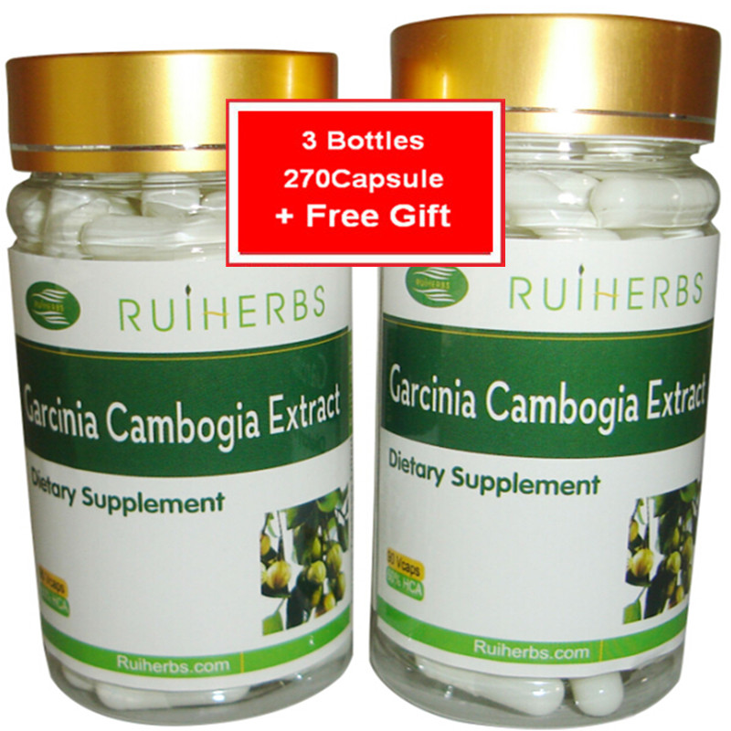 3Bottles Garcinia Cambogia Extract Caps 500mg X 270pcs For Weight Loss