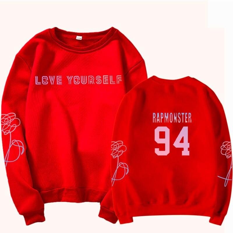 jungkook Unisex hoody kpop suga93 hoodies love KPOP weatshirt love yourself KPOP hoody sweatshirt  harajuku hoodies 27