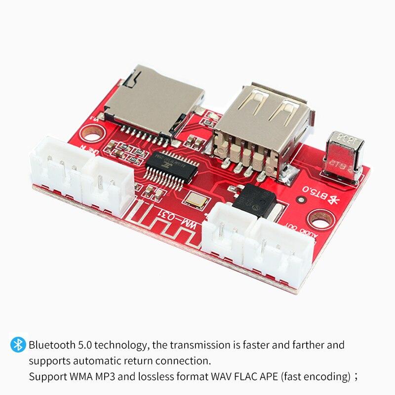 Image 3 - UNISIAN Bluetooth 5.0 decoder Board USB u disk tf card Aux Signal input Support MP3  WMA WAV FLAC APE remote control DAC DecoderDigital-to-Analog Converter   -