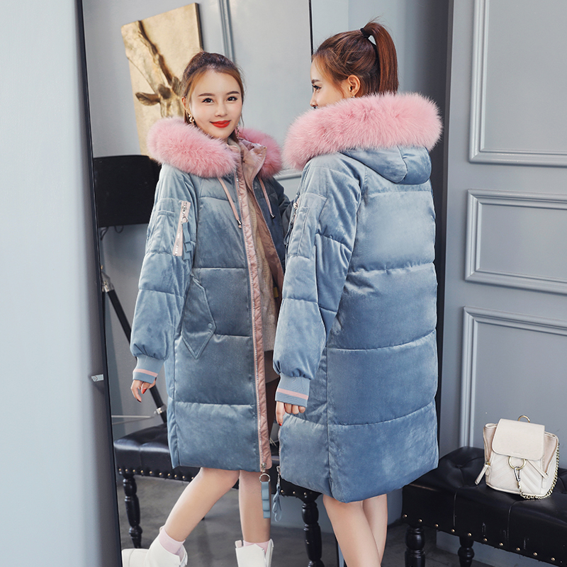 2019 New Arrival Winter Jacket Women Hooded With Fur Velvet Fashion   Parka   High Quality Warm Thicken Outwear Female Coat   Parkas
